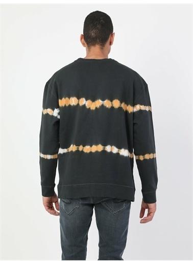 Colin's CL1046874_Q1.V1_BLK Oversize Erkek Siyah Sweatshirt Siyah